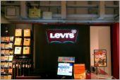 黑鐵板造型燈箱_Levis廣告招牌