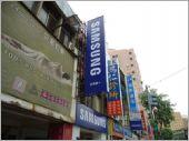 無接縫燈箱_Samsung廣告招牌