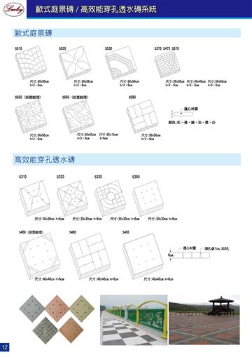 歐式庭景磚/高效能穿孔透水磚系統