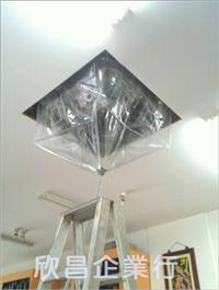 商店內使用防水罩清洗冷氣實際案例