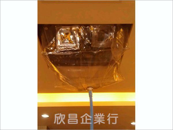 髮廊內使用防水罩清洗冷氣實際案例
