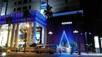 漢神百貨LED立體錐形型等間距聖誕樹