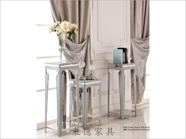 客厅不锈钢花架图片