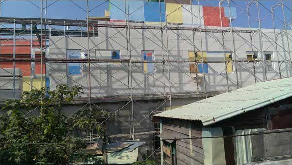 A.L.C白磚外牆版片-施工前