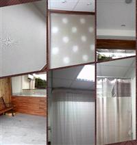 方塊塑膠地磚、壁紙、醫院隔簾布