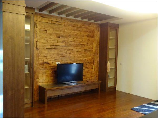 室内设计_客厅木作电视墙橱柜工程-颖坤室内装修设计