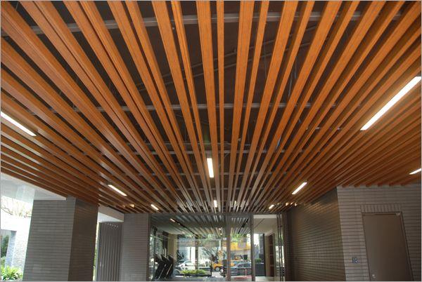 金屬仿木紋天花板