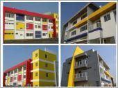 低污染意匠型矽石塗料 (台南安南消防分隊廳舍 + 保西分隊新建)