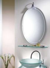 橢圓雕刻化粧鏡