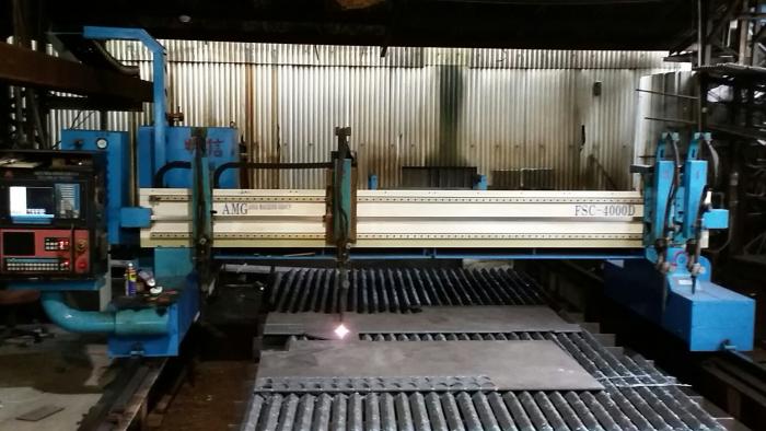 cnc火燄鐵板圓型切割