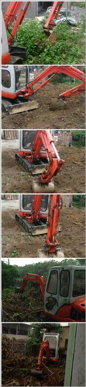 小型挖土機
