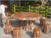 水泥仿木桌椅組