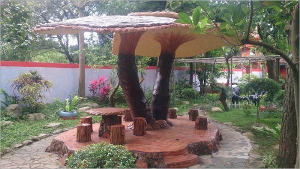 香菇造型涼亭