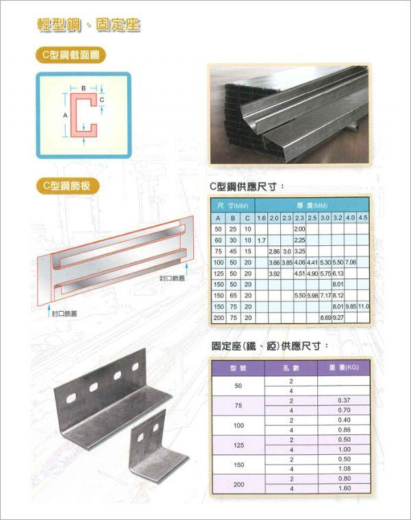 C型鋼‧固定座角鐵