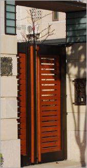 鋼板木製門