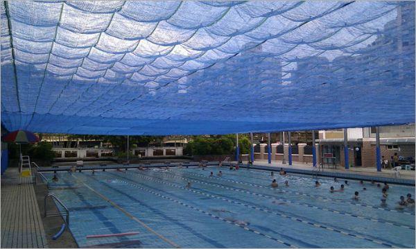 游泳池電動遮陽網