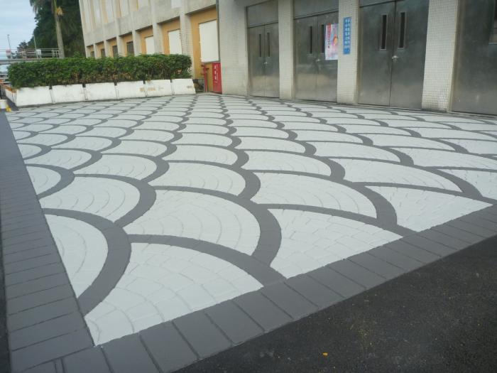 壓花瀝青地坪-空間標示