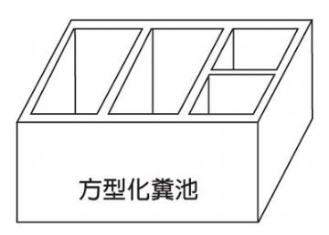 四方形化糞池