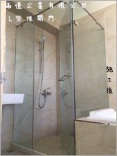 衛浴空間設計(L型推開門)