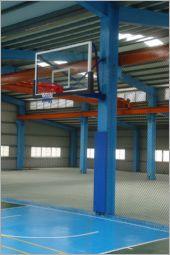 鋼柱式籃球架
