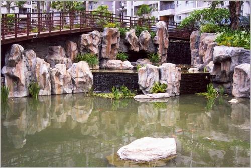 GRC.FRP.仿岩、假山、瀑布、造景