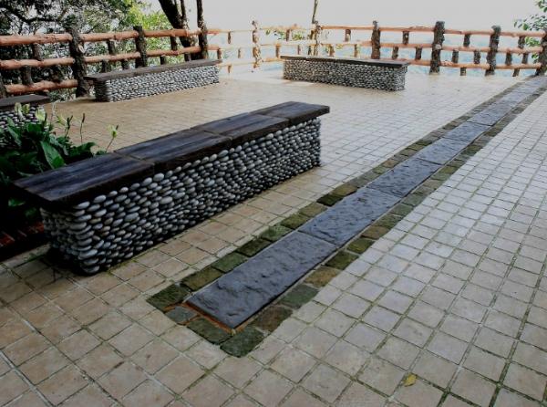 公園景觀造景座椅地坪